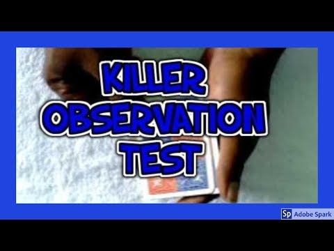 MAGIC TRICKS VIDEOS IN TAMIL #209 I KILLER OBSERVATION TEST @Magic Vijay