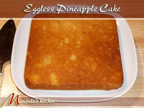 Eggless pineapple cake recipe video