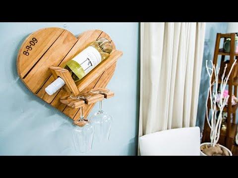 DIY Heart Wine Rack - Home & Family