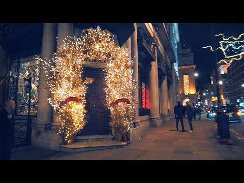 Christmas Walking London ✨ Mayfair's Bond Street & Berkley Square To The Ritz (Binaural City Sounds)