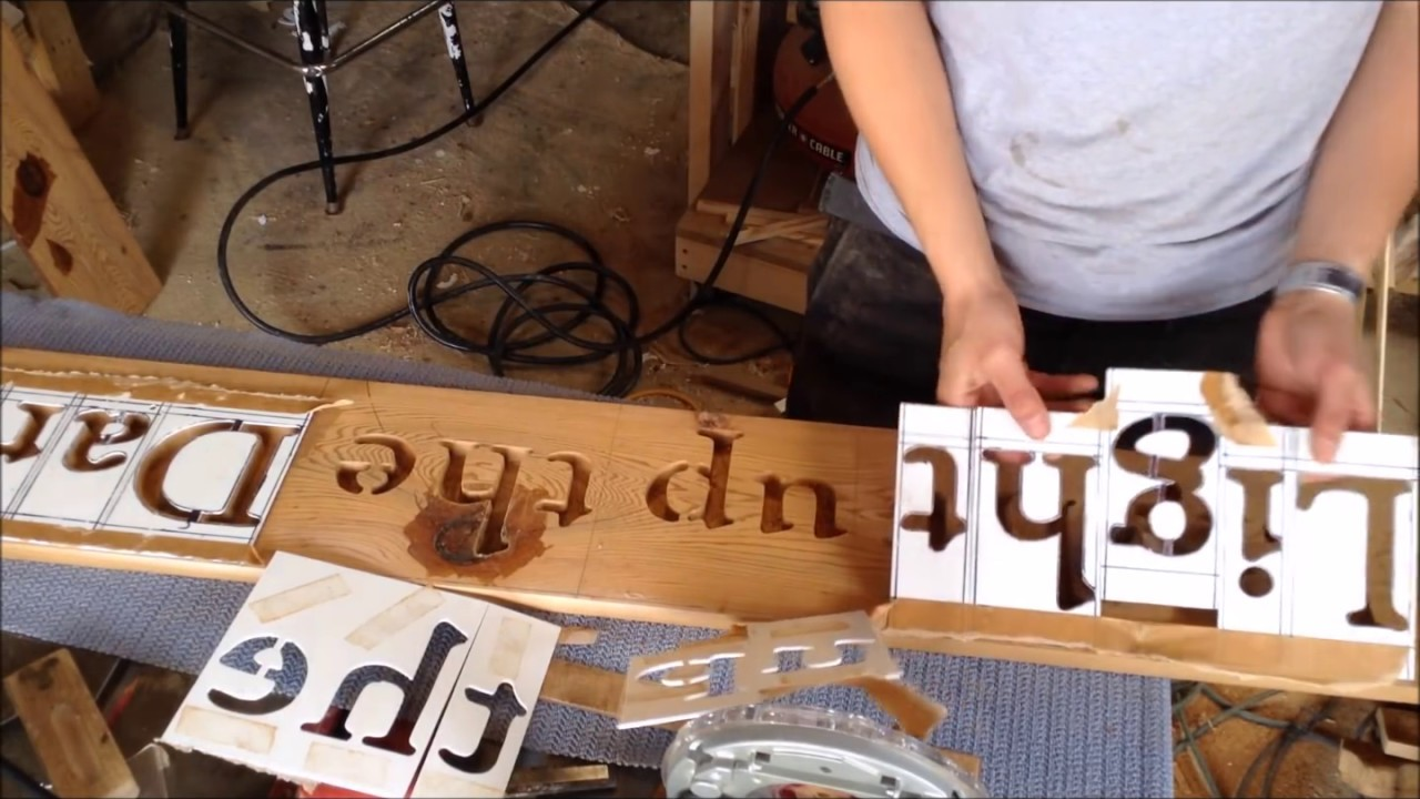 Woodworking: Make Custom Router Letter Stencils // How  To   YouTube