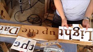 woodworking make custom router letter stencils how to