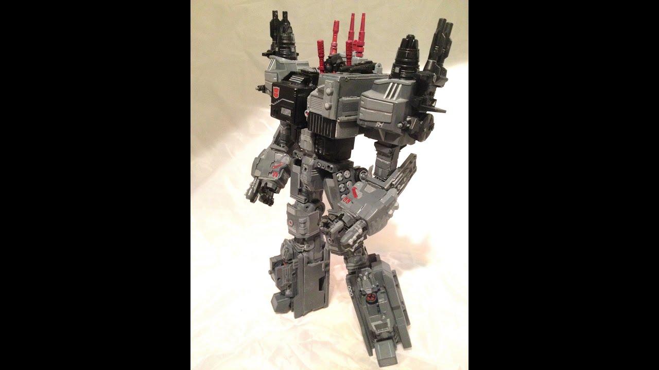 Transformers Fall Of Cybertron Custom Metroplex Fully
