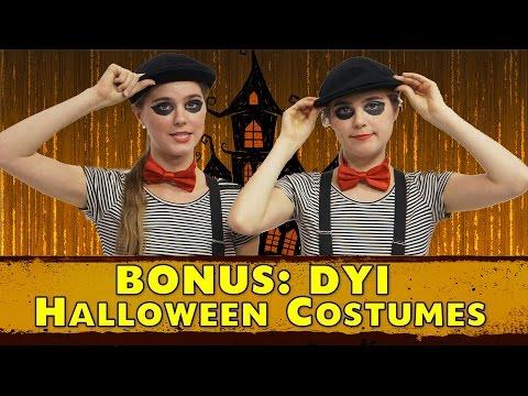 Easy Homemade Halloween Costumes  DIY Nina and Randa Nelson
