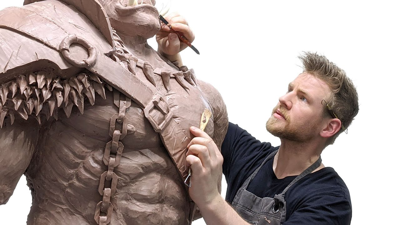 Download I sculpted a GIANT MONSTER and scared my friends...