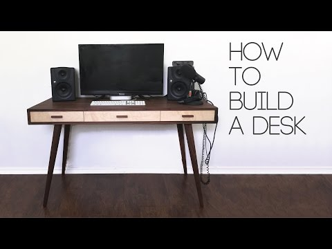 DIY Mid Century Modern Desk | How To | Modern Builds | EP. 60