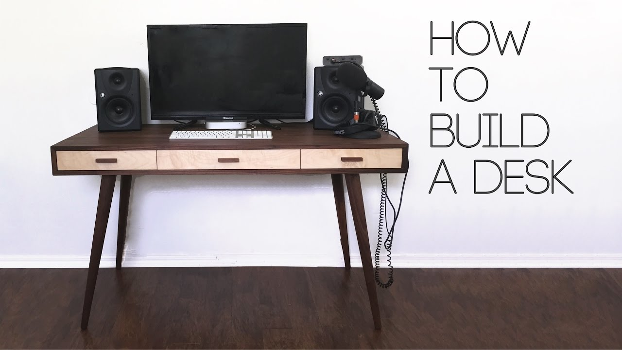 diy mid century modern desk  how to  modern builds  ep   - modern builds s • e