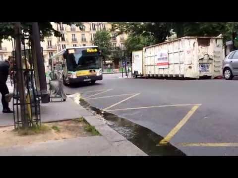 RATP Bus Line 95 Going Towards The Porte De Montmartre