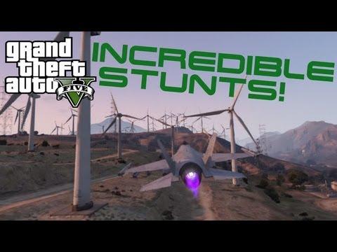 Gta v awesome fighter jet stunts gta 5 youtube