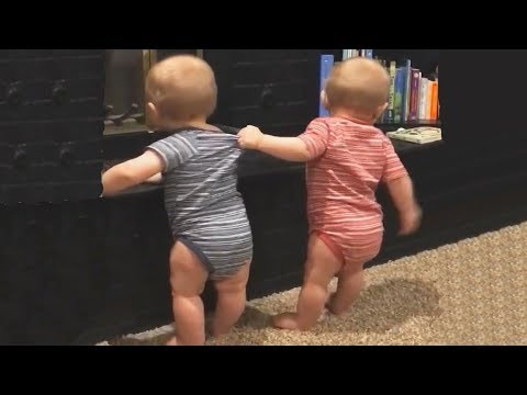 75feb8c1b The FUNNIEST and CUTEST video you'll see today! - TWIN BABIES Adorable  Moments