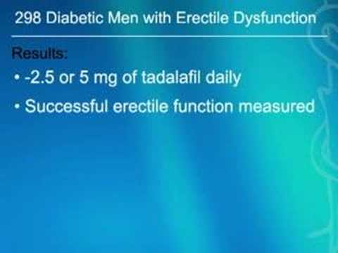 Daily Tadalafil Prevents Erectile Dysfunction in Diabetic