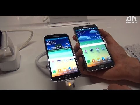 Samsung Galaxy S5 vs. Samsung Galaxy Note 3 - Hands-On - MWC 2014 - androidnext.de