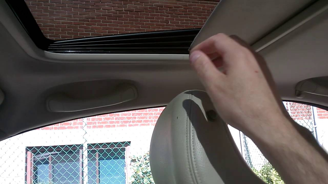 Broken sunroof cover Volvo S60 - check the comments for fix in linked video - YouTube