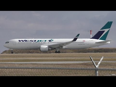 WestJet 767-338ER(WL) [C-FOGJ] Taxi and Takeoff from Calgary Airport ᴴᴰ