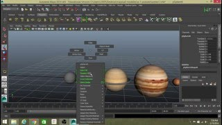 how to texture a solar system in maya ?