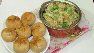 Litti Chokha/Sattu Stuffed Litti Chokha Easy Recipe in Hindi/Litti Chokha Recipe in Microwave