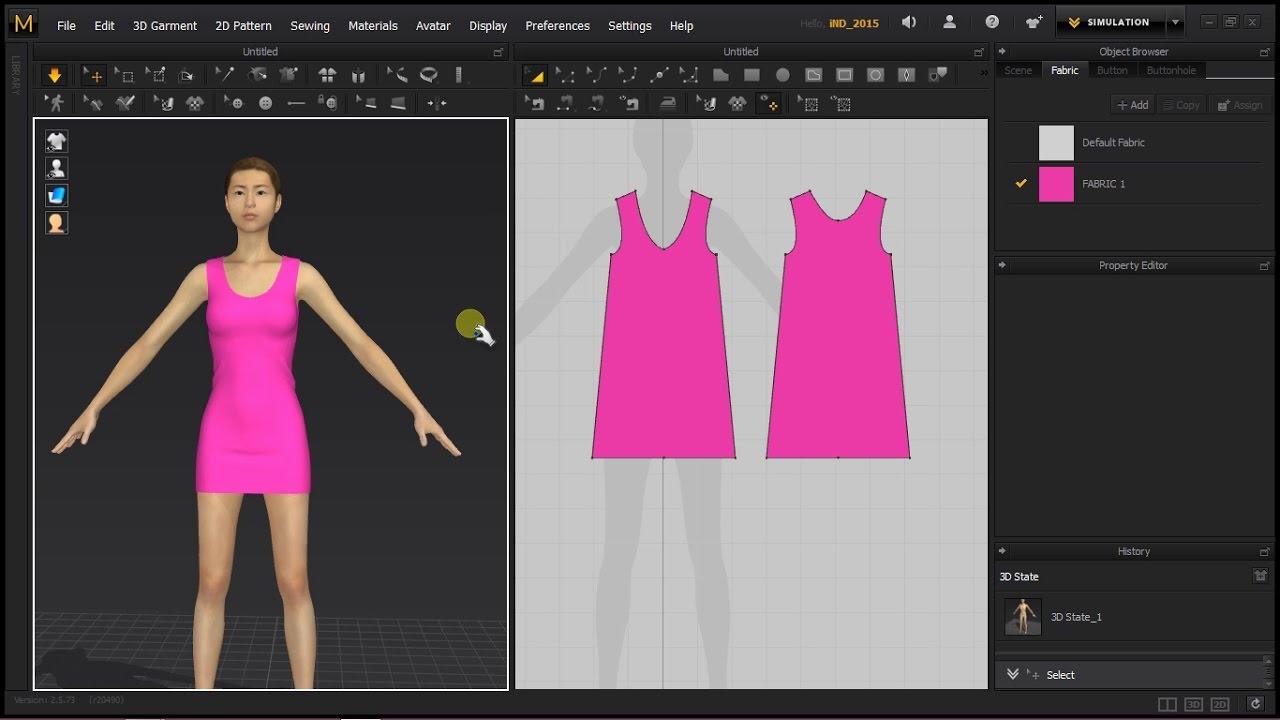 Simple 3d Clothing Design In Marvelous Designer For