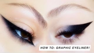 HOW TO: GRAPHIC EYELINER! | Lucy Garland