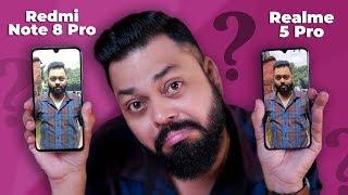 Redmi Note 8 Pro Vs Realme 5 Pro Camera Comparison ⚡⚡⚡ Is 64mp Better than 48mp??
