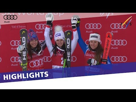 Anna Veith back on top of the podium in the 2nd SG at Val d'Isère | Highlights