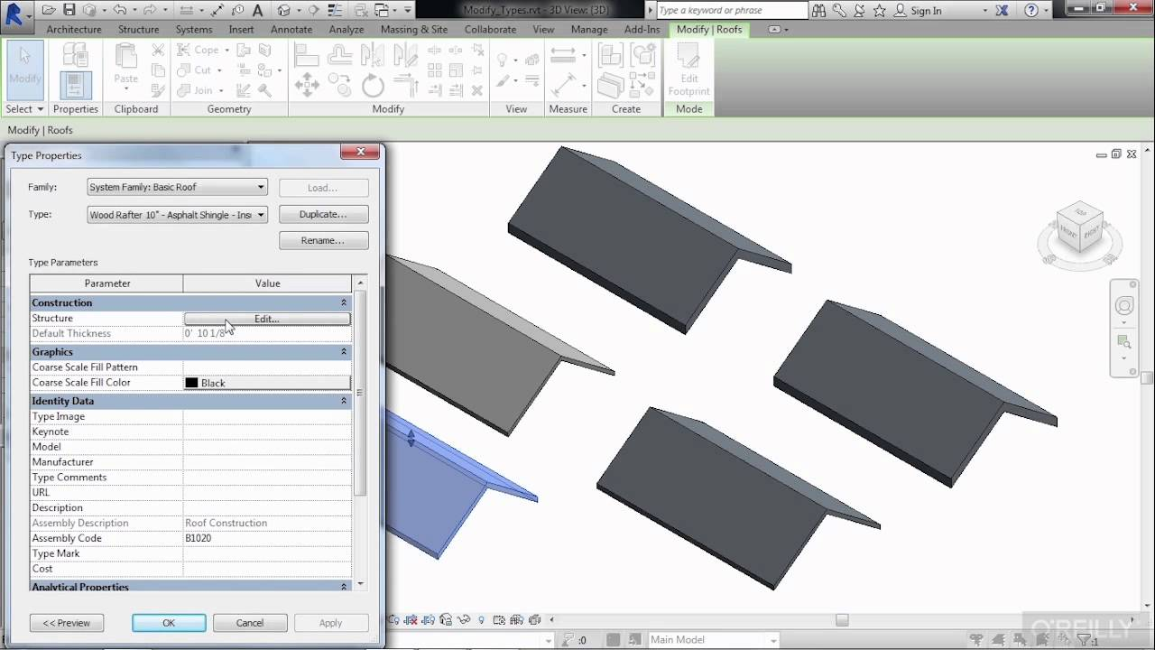 Revit Architecture Roof Design Tutorial Edit A Roof Structure Youtube