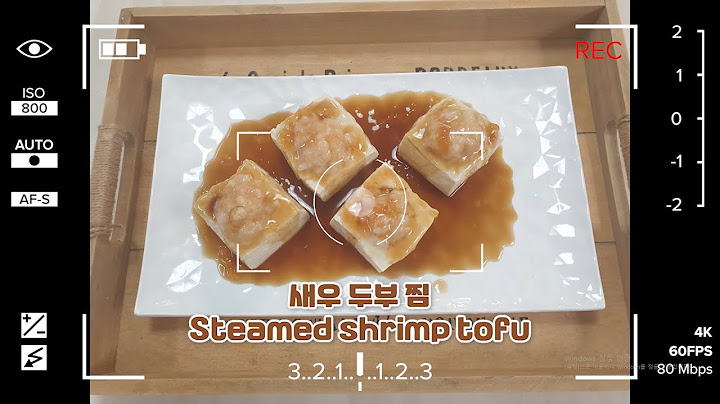 [Cook moon TV] 요리 레시피 Food recipe 새우두부찜 Steamed shrimp tofu