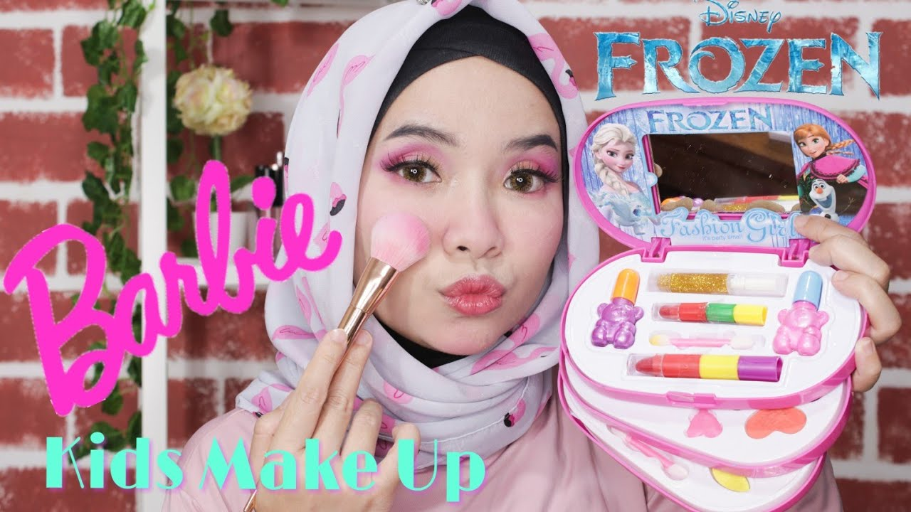 Kidsmakeupchallenge Kids Make Up Tutorial Barbie Make Up Anak Perempuan Mainan Make Up Anak Anak Youtube