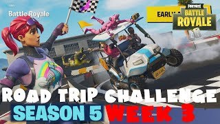 SECRET Battle Star Week 3 - Road Trip Challenge Guide - Fortnite Battle Royale Season 5
