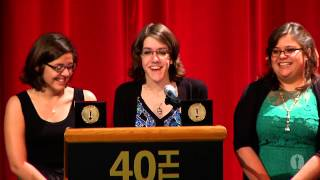 40th student academy awards lindsey st pierre and ashley graham animation gold medal
