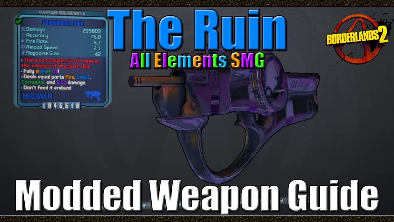 Borderlands weapons guide