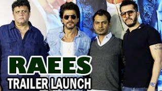 Raees Official Trailer 2016 Launch  Shahrukh Khan, Nawazuddin Siddiqui  Full Hd Video