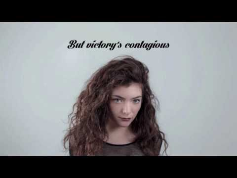 LORDE | Glory and Gore (HD Lyrics)