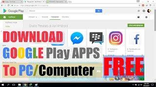 Cara Download Aplikasi Android Play Store via Komputer Laptop PC