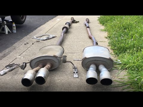 jcw vs stock exhaust sound and install mini cooper s r56 video 4