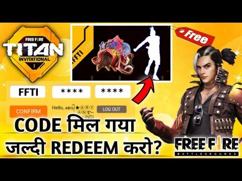 Free Fire Titan Invitation Rewards Redeem Code 2021 4 Youtube