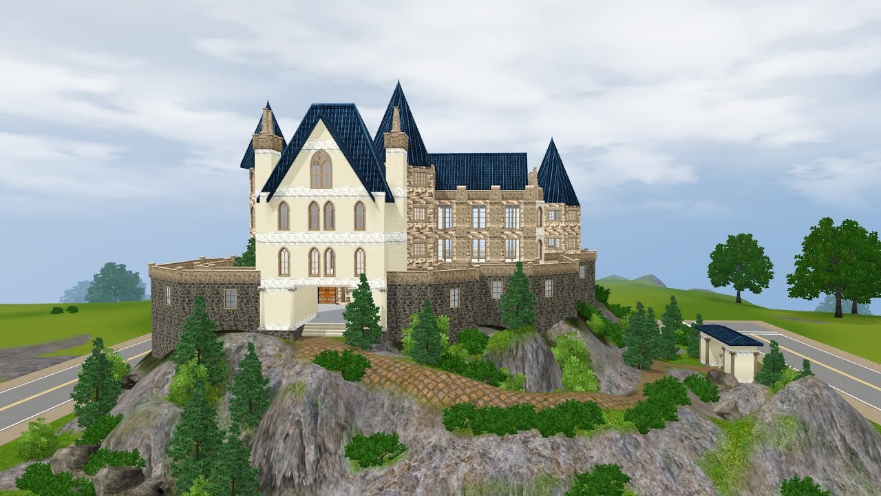 The sims 3 small castle youtube for Small castle house