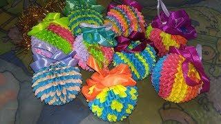 модульное оригами шарик (новогодний шарик, елочная игрушка) мастер класс