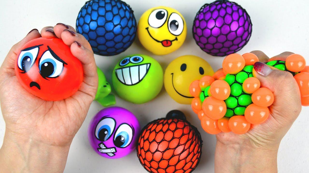 Squishy Ball Slime : Kids Learn Teach Colors Toddler Babies Children Squish Splat Ball Squishy Slime Stress Balls ...