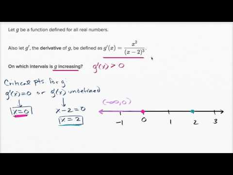 Derivative to evaluate when function is decreasing