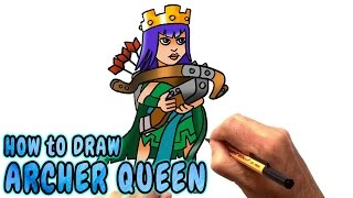How to Draw Archer Queen from Clash of Clans (NARRATED)