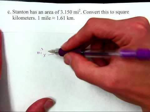 Converting Square Miles to Square Kilometers