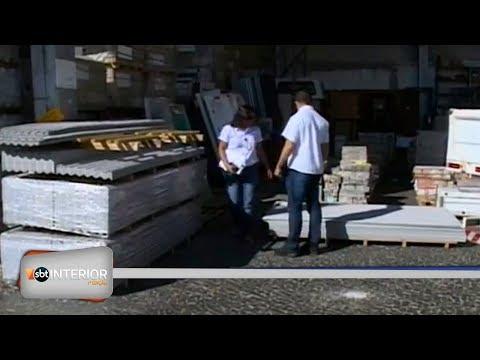 Vigilância Sanitária fiscaliza lojas de construção