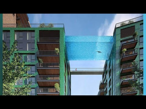 incredible architecture suspended glass pool apple campus 2 upside down skyscraper. Black Bedroom Furniture Sets. Home Design Ideas