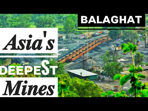 Asia's Biggest & Deepest Maganese Mines of Bharveli at Balaghat From Hilltop