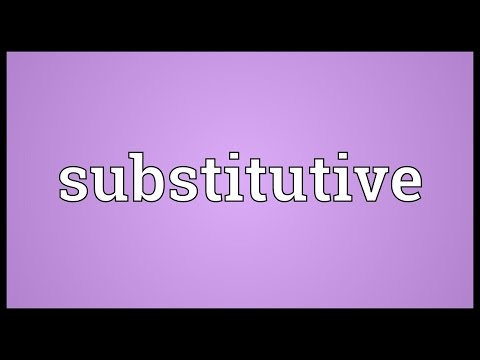 Header of substitutive