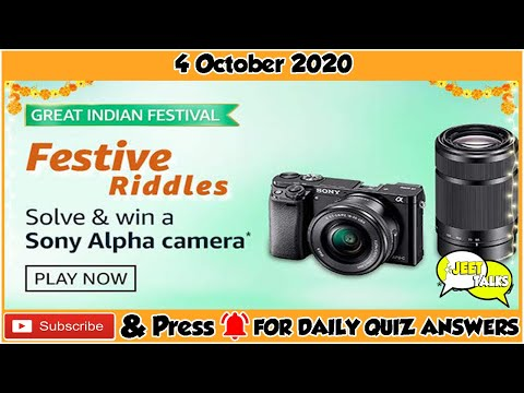 Amazon Festive Riddles Quiz Answers Today Win Sony Alpha Camera