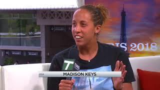 Madison Keys - Roland Garros Tennis Channel Desk Visit