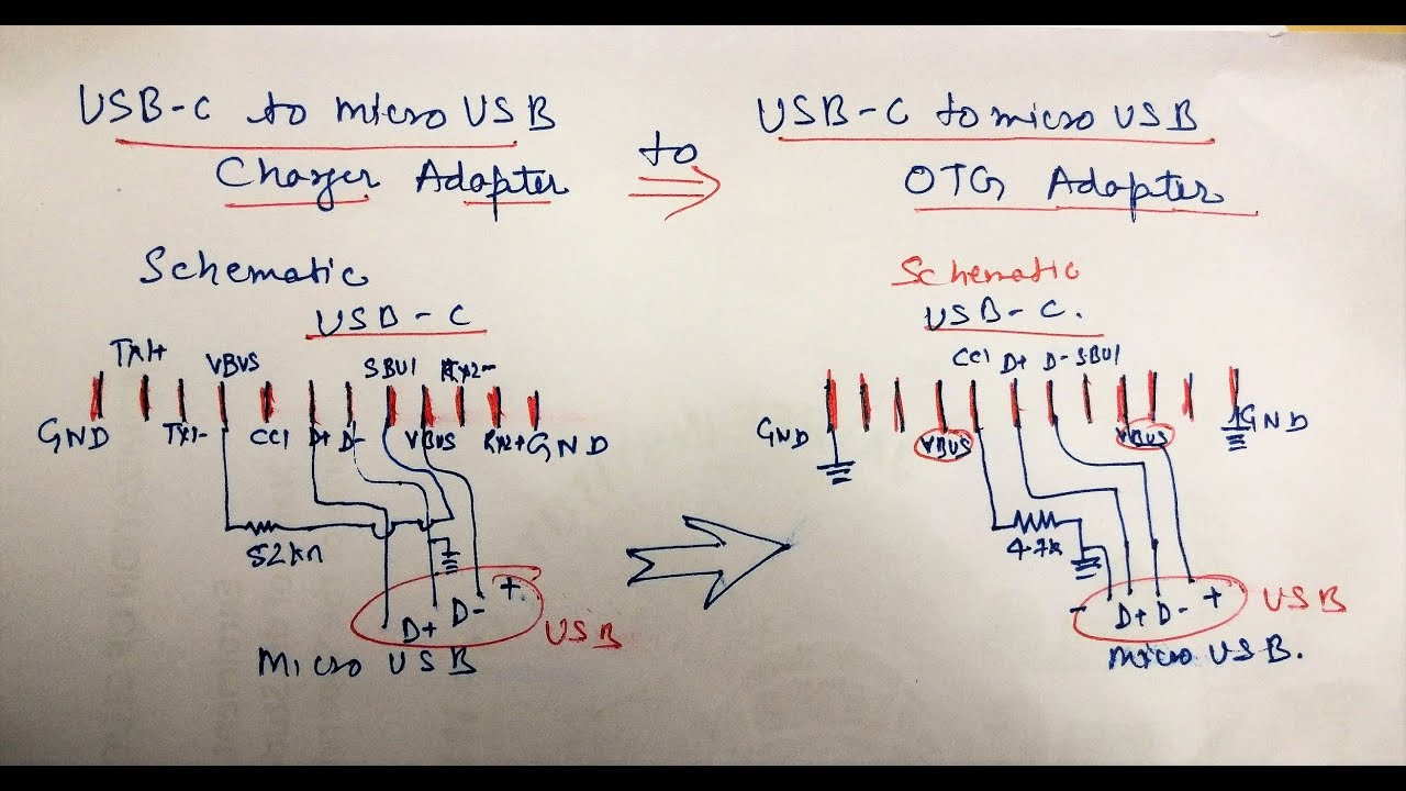 Usb Charging Cable Wiring Diagram 700r4 Tcc [english-audio]-usb C Type Adapter Hack: Converting Into Otg - Youtube
