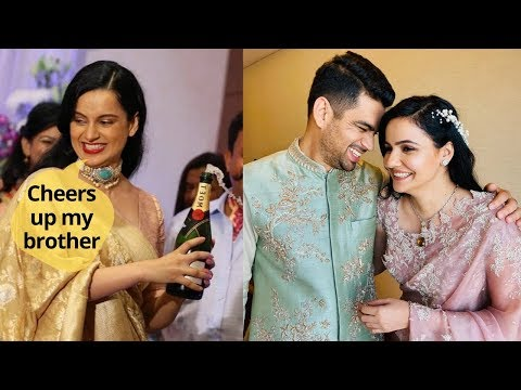 Kangana Ranaut with family celebrates her brother's engagement Mp3