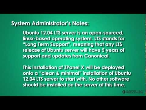 ZPanel X control panel installation onto Ubuntu 12.04 server